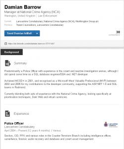 Detective Inspector Damian Barrow LinkedIn
